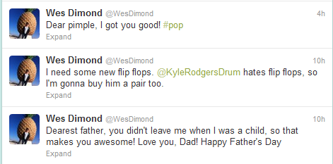fall-out-girl-in-love:  Wes.. His tweets keep getting better by the minute.