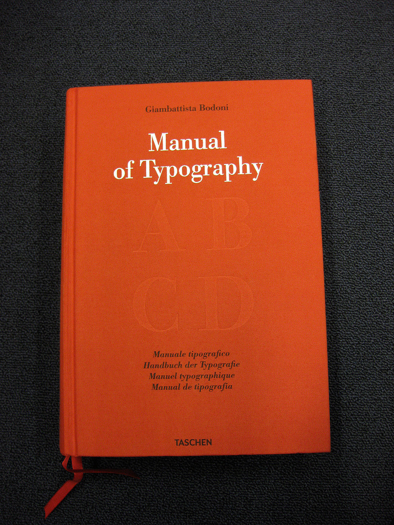 by9:  Bodoni: Manual Of Typography (by a typeaffair)