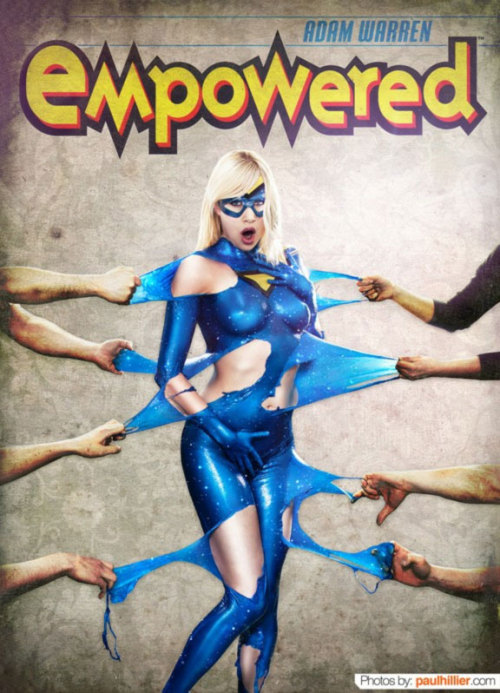 Cosplay of the day: Empowered, done with liquid latex The superhero Empowered, from Adam Warren's English language 'Empowered' manga. See the whole liquid latex process here Via