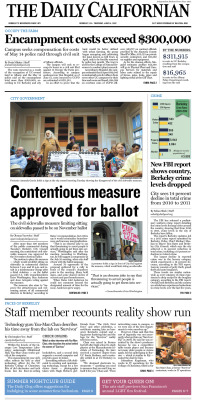 Front page for Thursday, June 14, 2012 Layout Design & Infographic: Chris Chau/Staff Read more at dailycal.org