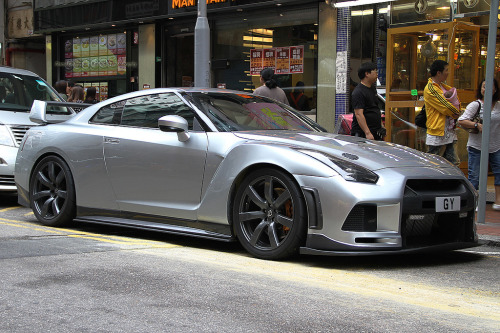 Nissan GT-R somewhere in Mong Kok, Hong Kong (photo credit: Daryl Chapman)