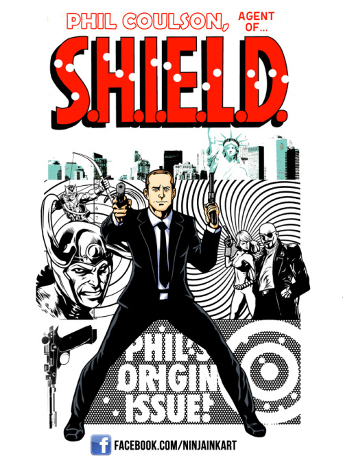 grassfire:  Phil Coulson Agent of SHIELD WLF by *ninjaink Yes, yes, good.