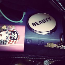 a-needfromenid:  June 17th : In My #Bag ( #purse #sunday #church #bible #beauty #girlstuff ) (Taken with Instagram)