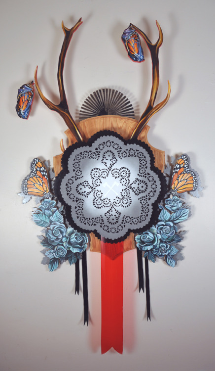 Hillary White  |  Resurrection Wreath Mixed media sculpture. Oil and acrylic paints. Wood and plastic.