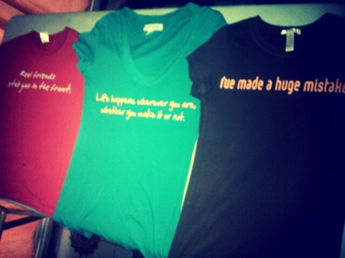 Custom made tshirts