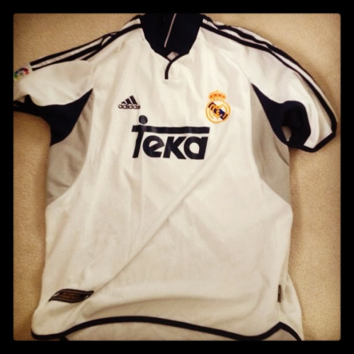 Shirt of the day: Real Madrid, Adidas, 1998/9 courtesy of @shindles5   As Cristiano Ronaldo gets his first Euro2012 goals