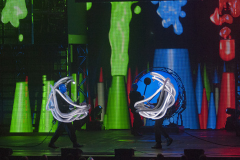 Blue Man Group at the Orpheum Theatre: photos by Dave Parker