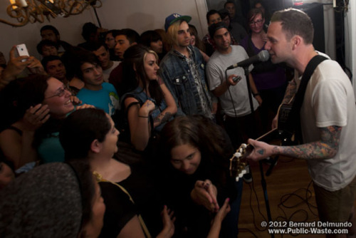 Vinnie Caruana (I Am the Avalanche, The Movielife) May 11, 2012 in Los Angeles, CA.