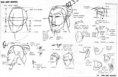 "penciltests:  Model Sheet Monday! I missed last week's, so I'll do two today! ""Mulan"" 1998"