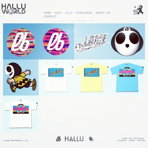 www.halluworld.com | …and we play with colors. #lb #lamebrotherhood #lame #halluworld #brand #new #stickers #pins #fashion #colors #colours #art (Taken with Instagram at www.halluworld.com)
