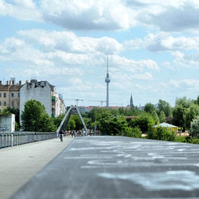 Mauerweg looking towards Alexanderplatz, Prenzlauer Berg, Berlin (Taken with Instagram)