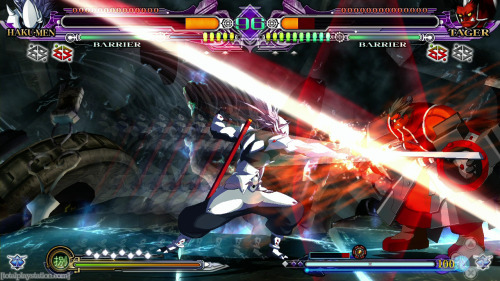 "Review: BlazBlue: Continuum Shift EXTEND by: Nathan Han As a game developer, Arc System Works never caught on with me. Though I have never disliked their Guilty Gear series, I had never been able to try BlazBlue and it never quite held the same appeal to me as Guilty Gear. Given that EXTEND recently became available to me and my interest in 2D fighters, giving the game a whirl ended very pleasantly in a few ways that surprised me. [[MORE]]2D fighters have long since stagnated generally into Street Fighter ripoffs but without interesting characters. Entire series of Flash games online can be found of such examples, but BlazBlue: CSE mixes the great 2D elements of Street Fighter and blends it into its own style of sorts, with its own strategy and appeal. Fighters have been struggling to appeal to new players for a long while now, and the new Stylistic mode of play allows beginners to access normally difficult combos for newbies to the series who don't spend their waking hours devoted to the game. Building up power to unleash your strongest attacks is actually only one strategy of many you can use to win matches. Every combo, every attack has a block and/or counter in some way, so immediately using your strongest attacks actually is a hamper if your opponent can match your abilities. Having the ability to remedy your attacker is vital to your survival. My main problem with games like Street Fighter is their overall repetitiveness. BlazBlue solves this by offering wide ranges and skill sets per character, and EXTEND even gives you strategies in the tutorials for each character in the game. This better allows both newbies and regulars to the series to get in touch with the characters and formulate better and newer strategies. The hand drawn graphics are simply beautiful. A lot of the animation was used from the older Continuum Shift, but you can definitely see a lot smoother production and more fluid animations than the previous title. Only a couple of new characters may not seem like much to a fighting game series, but in BlazBlue, it can make all the difference. BlazBlue EXTEND focuses heavily on specialization rather than customization- the character you pick has unique strengths and specialties that no other character has.  The most commendable trait of the game is, without a doubt, the inclusion of a story mode. Though Arcade mode has its story, it pales in comparison to the Story mode, which has full fledged cutscenes and dialogue with many characters that branch out. It's also replayable, as choices you make in the story affect different character interactions. There are also entire animated scenes showcasing the power of the story. In the end, the game's major downfall is that it really only appeals to fans of anime. Many will be unimpressed by the battle system, even with new amendments, and veterans may feel cheated. Personally, I think there is a lot of fun to be had with the game and there is plenty that sets it apart from other fighters. The game does well to set itself apart, but the style and presentation may turn off people. I would recommend it heavily if you're looking for a change of pace amongst legions of fighters. Gameplay: 9/10This game is mostly gameplay, and its heavy emphasis on accessibility showcases itself readily and easily. Graphics: 8/10Though the hand-drawn characters look awesome, a lot of animation gets reused from previous titles with no updates to their look in most modes. Audio/Music: 8/10No track is a particular standout, but they all suit the mood and feel of the game greatly and doesn't even loop that much unless you play a match for more than 5 minutes. Story: 7/10A commendable attempt to incorporate story, but being a fighting game doesn't particularly help get the point across and it stumbles a bit. Overall: 8/10A very close master of ""easy to learn, difficult to master"" gameplay, but still trying to carve a niche into the fighting game market."