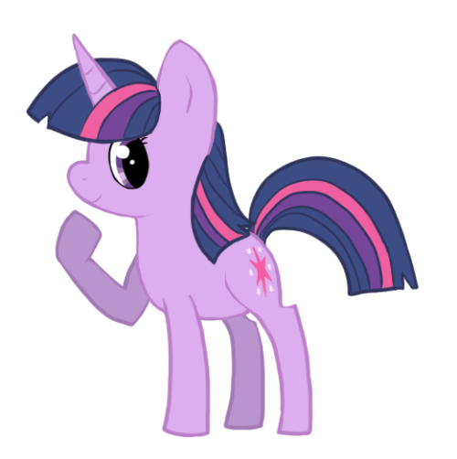 My favourite pony, Twilight Sparkle!  This was my second pony drawing ever.