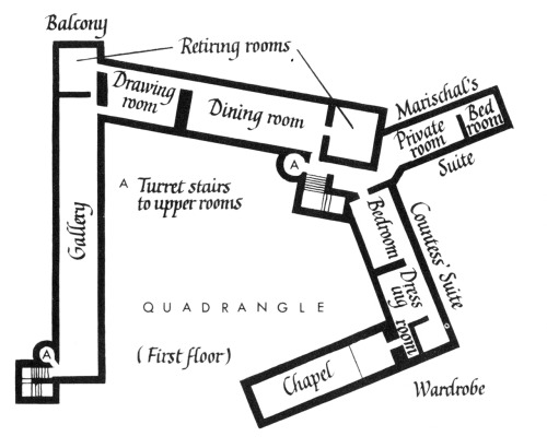 Dunnottar Castle, Plan, Scotland
