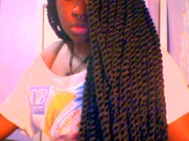 "Did my twists again, but now that I'm home in The Bahamas, it was impossible to find the usual Marley braid hair that I use. So I used an alternative:  The regular ""Jumbo"" kanekelon hair. $2.50 a pack. It's the same hair used for Senegalese twists, except I didn't twist them the same way. (I don't like how silky Senegalese twists look) I did them the same size as I do my Marley braid twists and they're much longer. I love how they look. Packs used: 16 and a half"