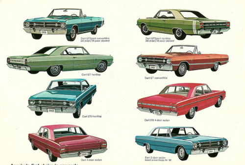 1968 Dodge Dart varieties by Hugo90 on Flickr.1968 Dodge Dart varieties