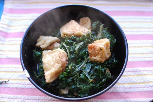 clottedcreamscone:  Swiss Chard & tofu stir-fry by elaynam on Flickr.