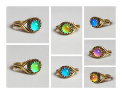 Mood Ring - High Quality - 7mm - Top Quality Brass - adjustable