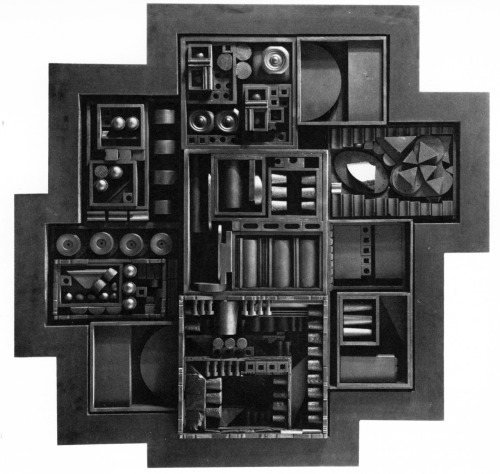 Louise Nevelson, Black Zag J, 1968