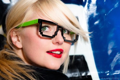 (via If It's Hip, It's Here: Pixelated Eyewear From Samal Design)