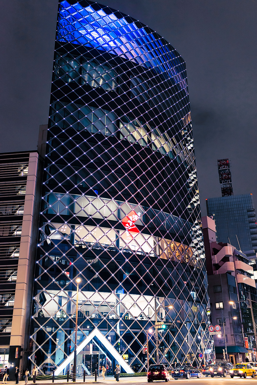 Cool looking building seen in the Akasaka area of Tokyo.