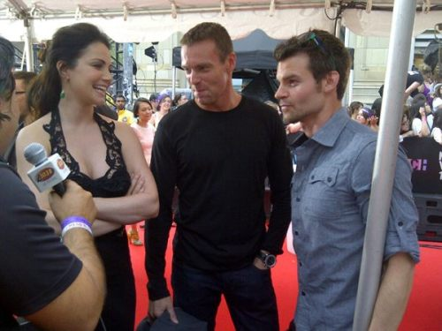 The cast of Saving Hope on the red carpet at the Much Music awards