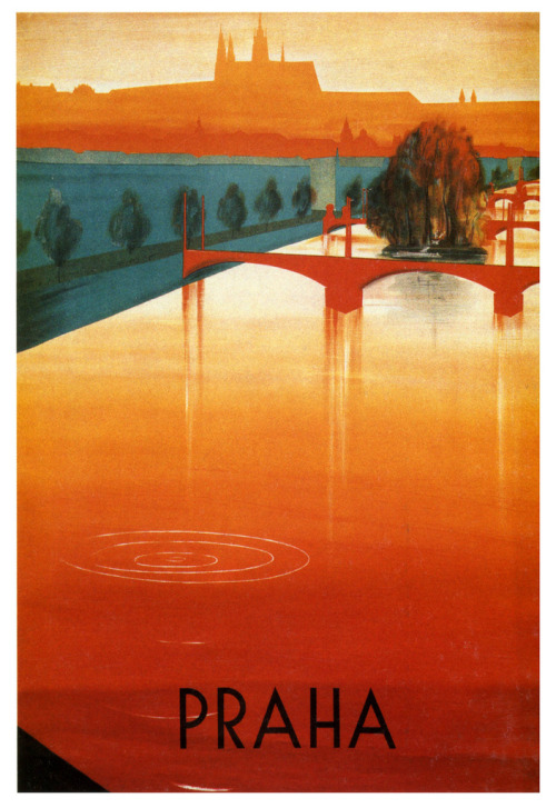 The Vltava River (by paul.malon) 1937 poster by Zdenek Rykr