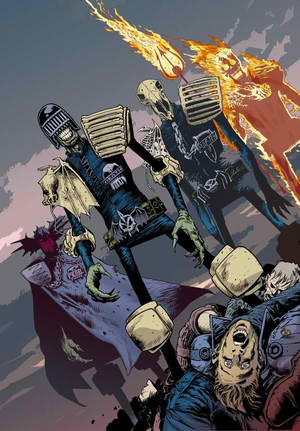 cam-cooper:  Dark Judges, from left: Judge Fear, Judge Death, Judge Mortis, and Judge Fire.