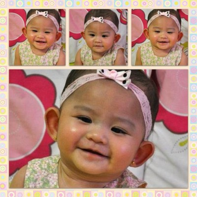 Fluffiest baby on Earth, baby Athena! :D 😘😊😄😃 #collage #filipina #love #instadaily #instagood #instahub #igerspinoy #igersasia #igersbatangas #gang_family #ribbon #happy #teamiphone #iphonephoto #baby #cute #smile #chubbycheeks #fashion #style #bestoftheday #picoftheday  (Taken with Instagram)