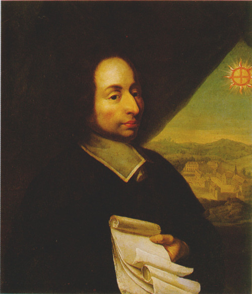Blaise Pascal, anonymous portrait, 17th century @credits  Blaise Pascal, was a French mathematician, physicist, inventor, writer and Catholic philosopher. He was a child prodigy who was educated by his father, a tax collector in Rouen. Pascal's earliest work was in the natural and applied sciences where he made important contributions to the study of fluids, and clarified the concepts of pressure and vacuum by generalizing the work of Evangelista Torricelli. Pascal also wrote in defense of the scientific method.
