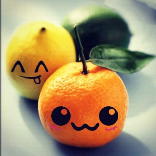 #fruits #orange #lemon #yellow #cute #healthy (Taken with Instagram)