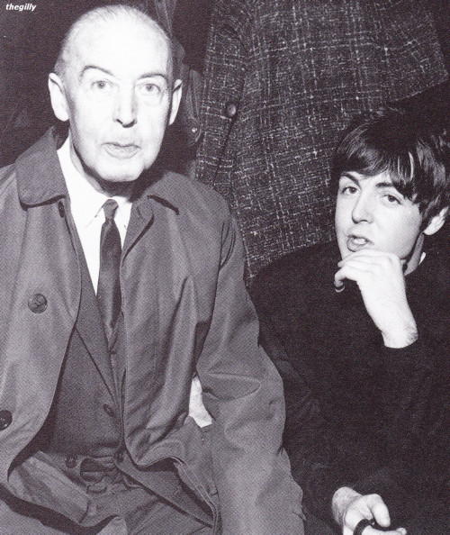 nineteensixties:  thegilly:  McCartney & Son.  HE HAS THE EYEBROWS