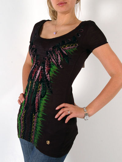 Roberto Cavalli Fashionable Short Sleeve Tunic For Women - BlackMore photos & another fashion brands: bit.ly/JzBJWL