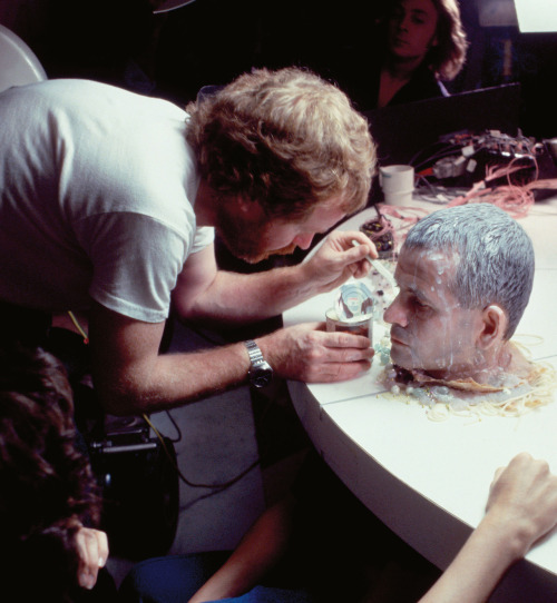 Ridley Scott on the set of Alien, 1978.