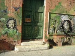 paxmachina:  C215 & Alice Pasquini - Paris (2010)