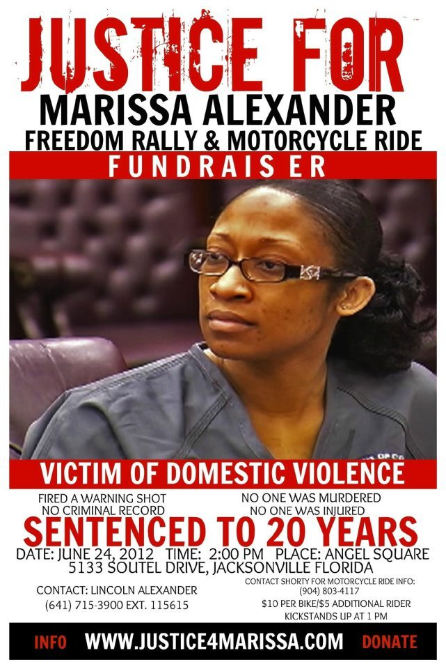 fuckyeahmarxismleninism:  Day of Global Rallies for Marissa Alexander and Victims of Domestic Violence - June 24th 2012. In Your City or in Jacksonville, Florida.