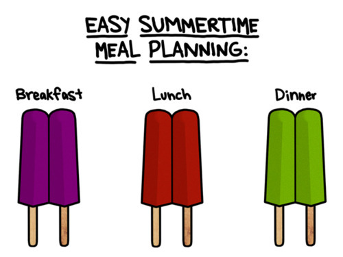 funnyhub:  Easy Summer Time Meal Planning…