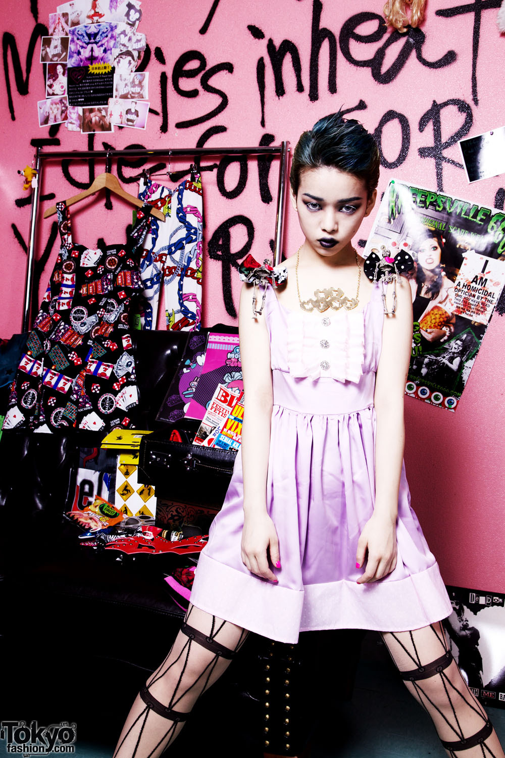 "Just posted a profile of Tokyo's ""Bright Despair"" fashion brand & boutique - Nude N Rude! Lots of pictures - including exclusive images of Hirari Ikeda modeling Nude N Rude fashion & accessories. Please check it!"