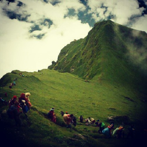 Badimalika, #Nepal . #clouds #mountain #green #nature #awesome #sky  (Taken with Instagram)