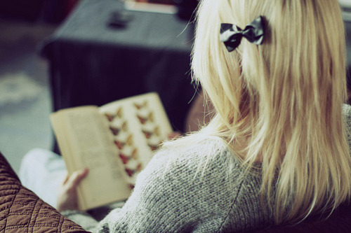 iweheartit:  Blond,Blonde,Bow,Fashion,Girl,Vintage,