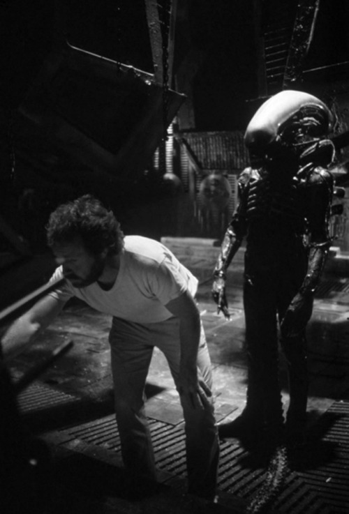 A set of stills from the shoot of Alien (1979).