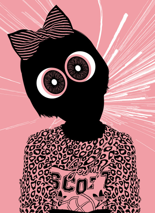 julesjulien:  Powerpuff Eyes, triptych for Cartoon Network Gallery and exhibition at Jett Gallery in San Diego, July 11-14.