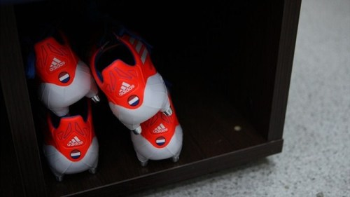 Arjen Robben's boots prior to their 2-1 defeat to Portugal.