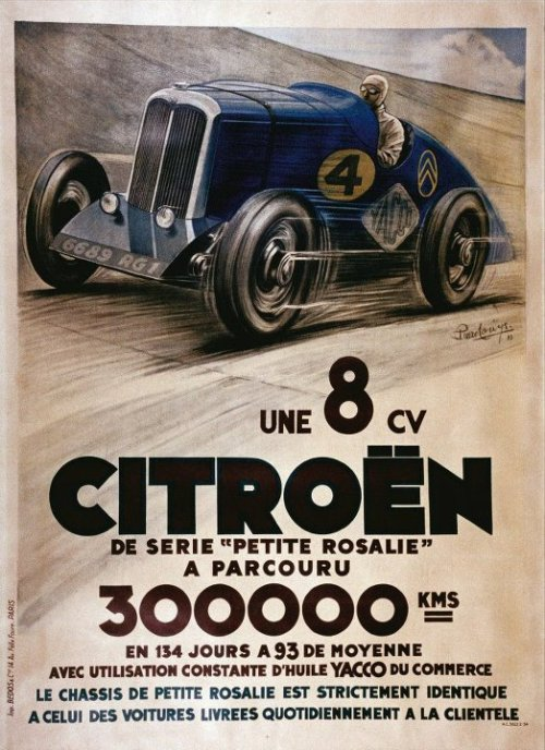 autoadvert:  Citroёn 8CV covered 300 000 kilometres in 133 days! (94 km/h average speed)