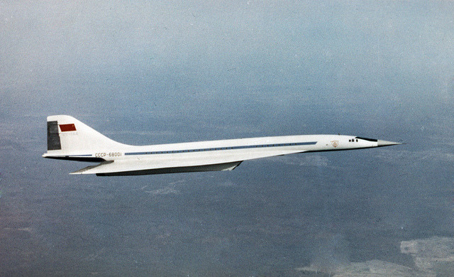 USSR. Civil aviation. by Socialism Expo. on Flickr.Via Flickr: Tupolev Tu-144 supersonic passenger airliner. 1 February 1969. RIA Novosti archive, image #566221, visualrian.ru/ru/site/gallery/#566221  Author, Lev Polikashin. Permission, commons.wikimedia.org/wiki/Commons:RIA_Novosti