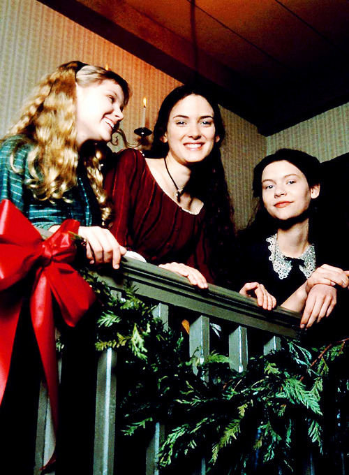 Winona Ryder, Claire Danes and Kirsten Dunst on the set of Little Women