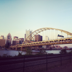 Pittsburgh on a bike.