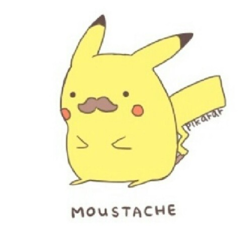 pikachu look sexy in his mustache, right? Lol #pikachu #mustache #cute  (Taken with Instagram)
