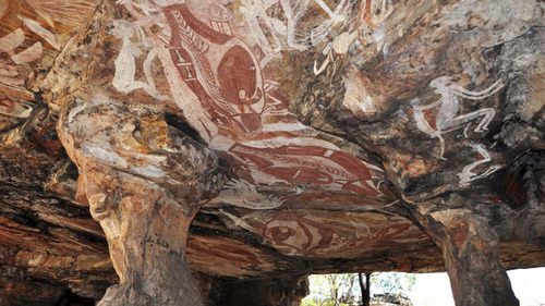 Nawarla Gabarnmang rock shelter, created 28,000 years ago.  Northern Territory, Australia