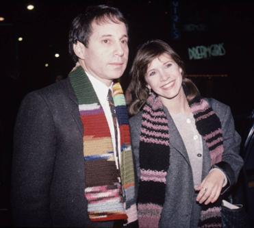 "thereweretwonotebooks:  Carrie Fisher and Paul Simon, 1982 . ""And she said losing love / Is like a window in your heart / Everybody sees you're blown apart / Everybody sees the wind blow.."""